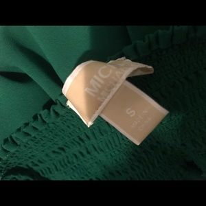 Michael Kors Emerald Green Off the Shoulder Dress